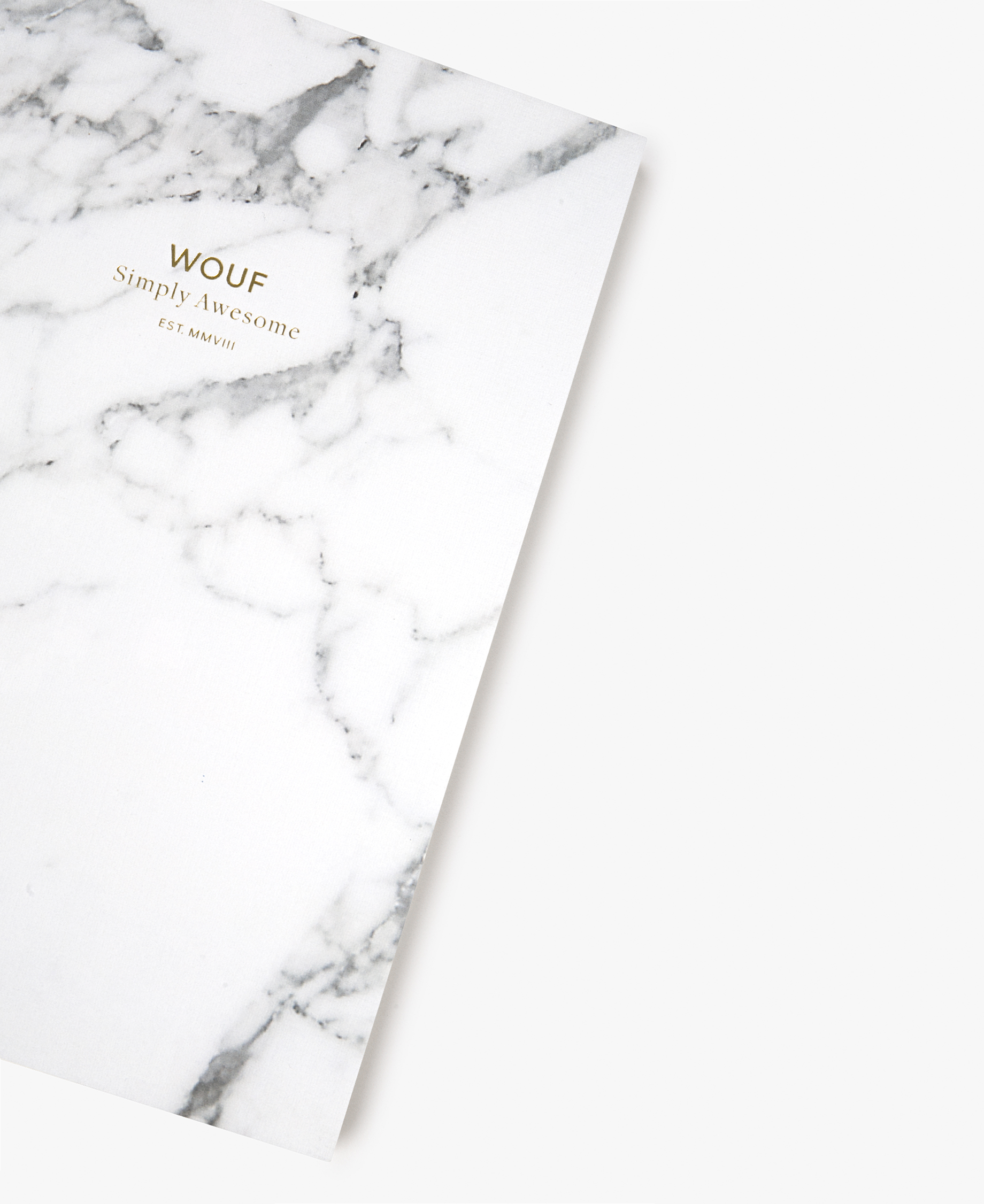 white journal notebook
