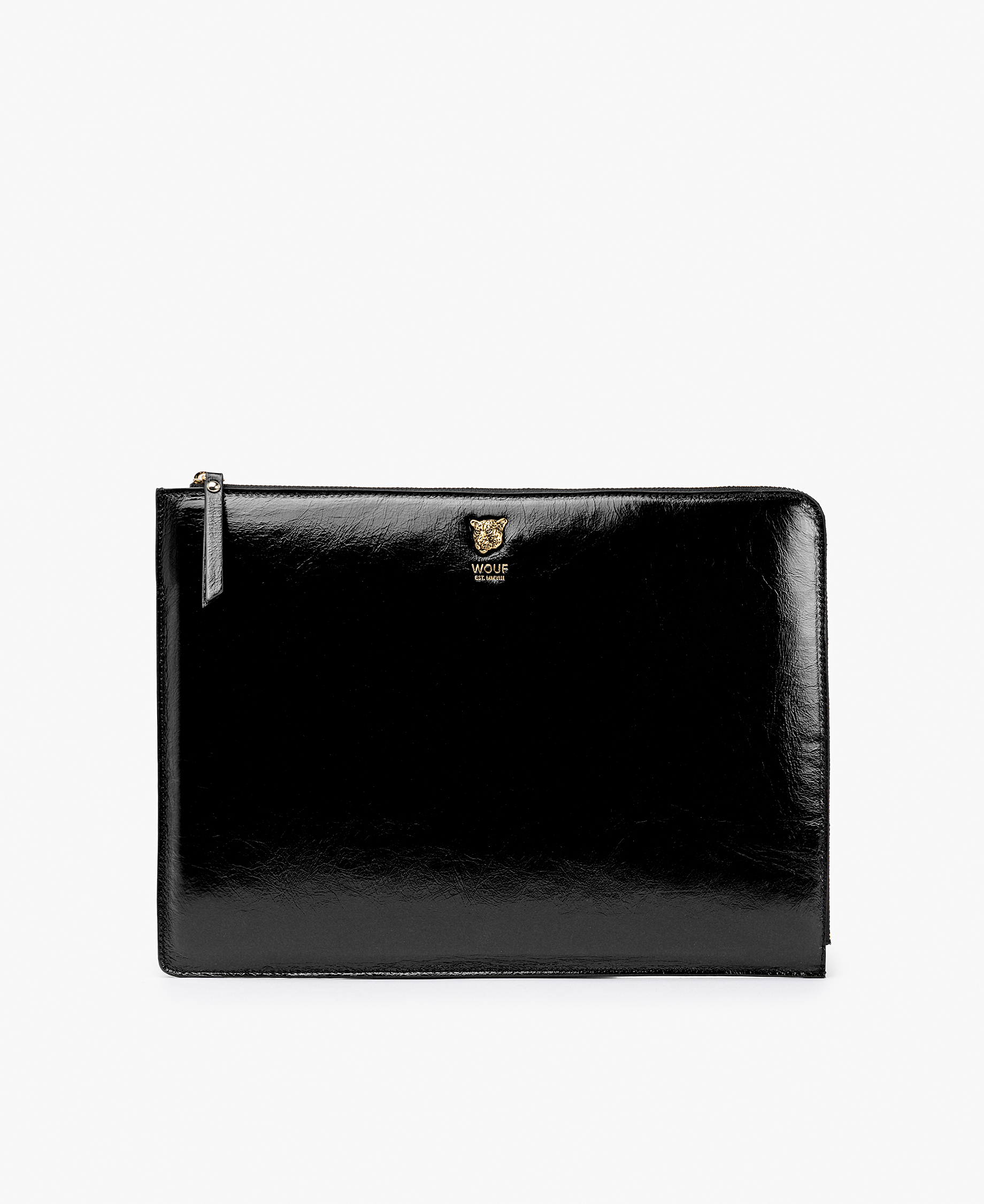 smart black leather laptop cover