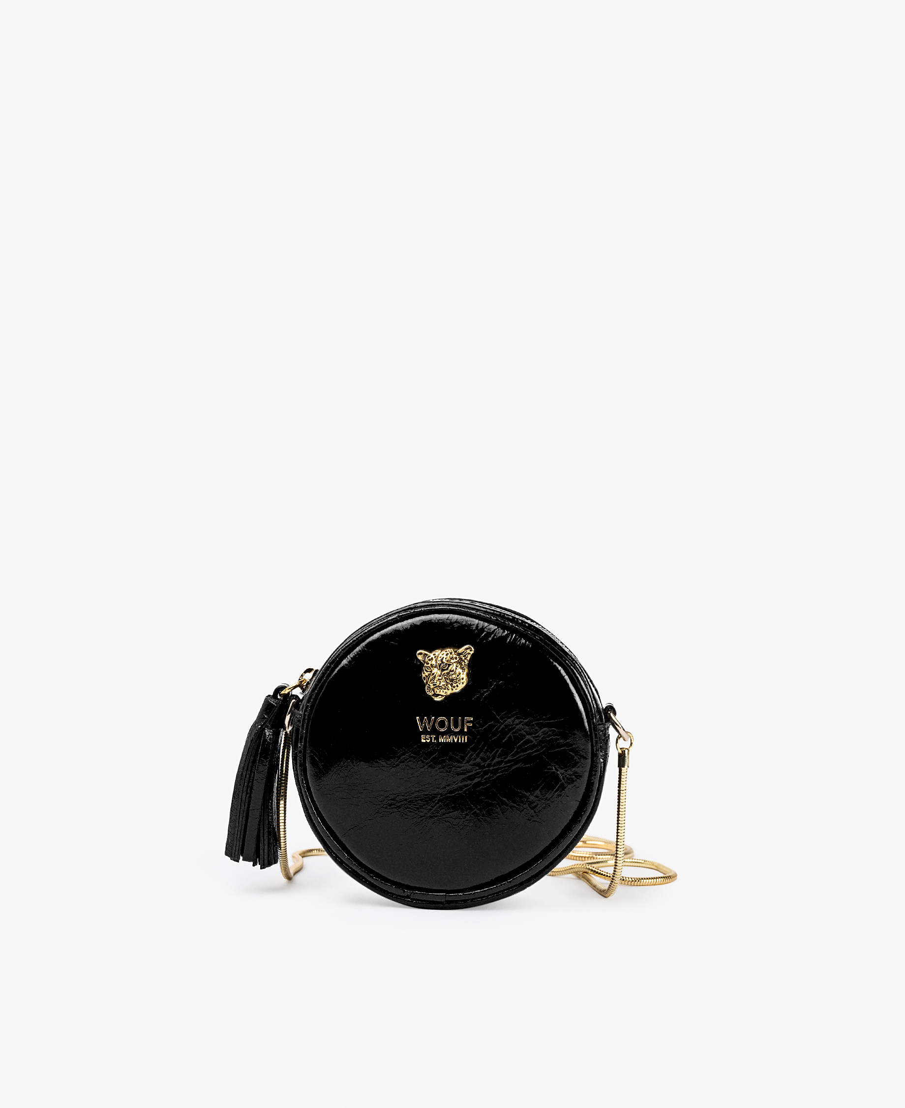 smart black woman mini bag with golden