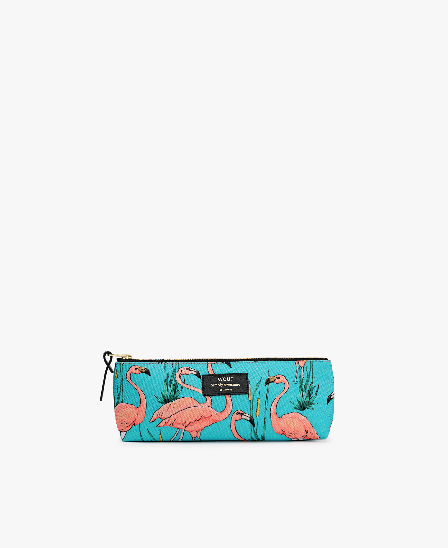 blue pencil pouch bag
