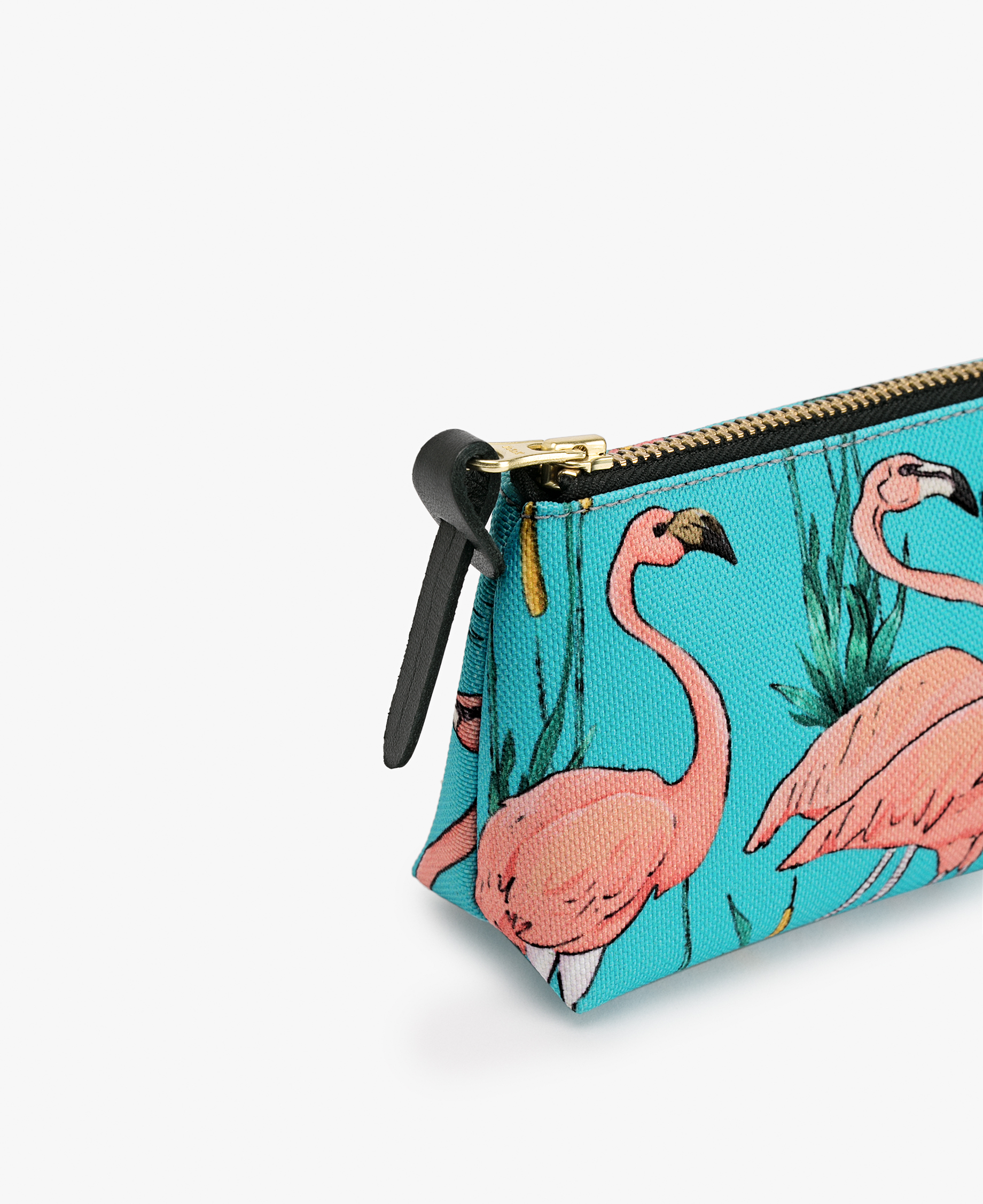 pink flamingo pencil pouch bag