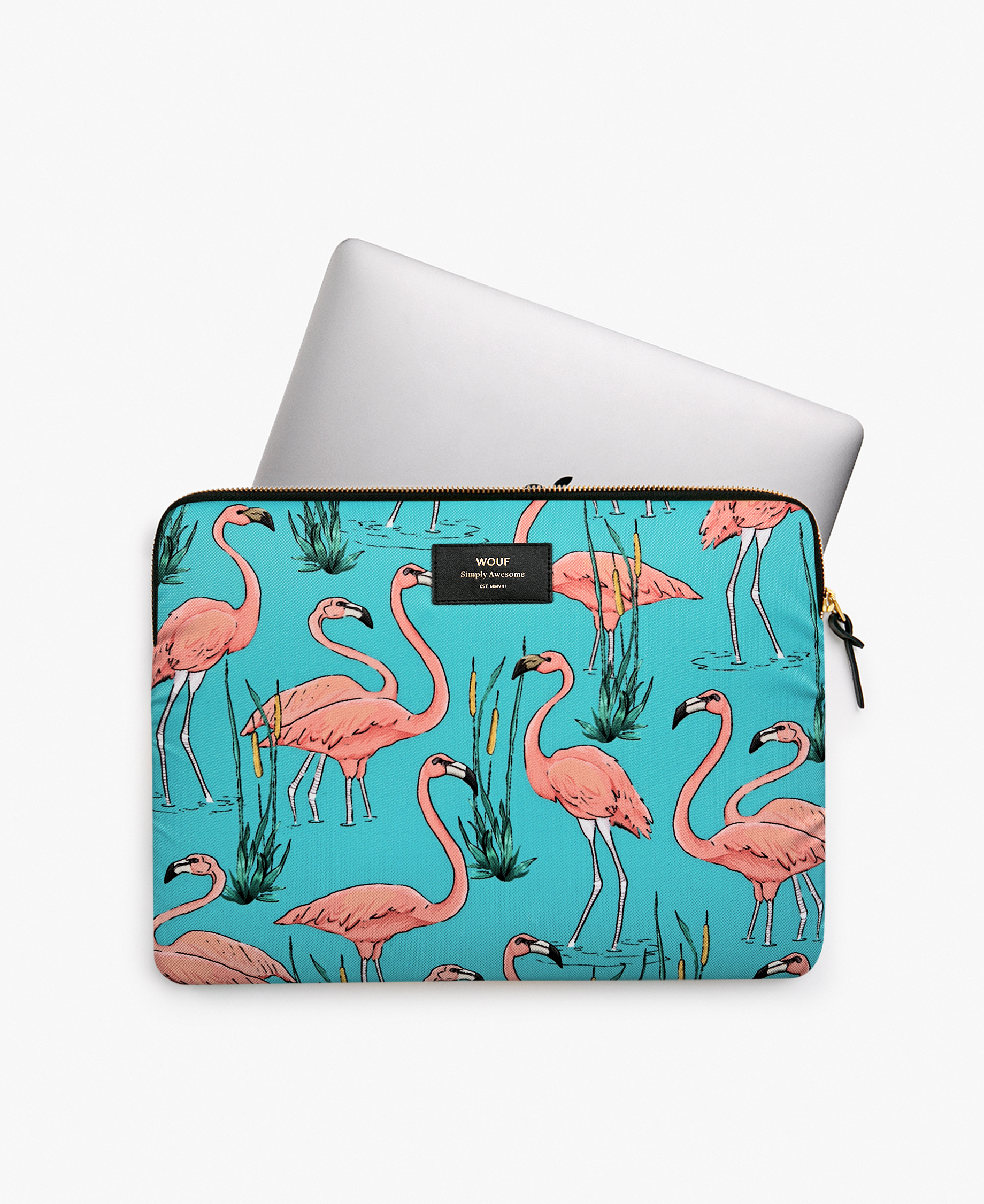 flamingos laptop cover