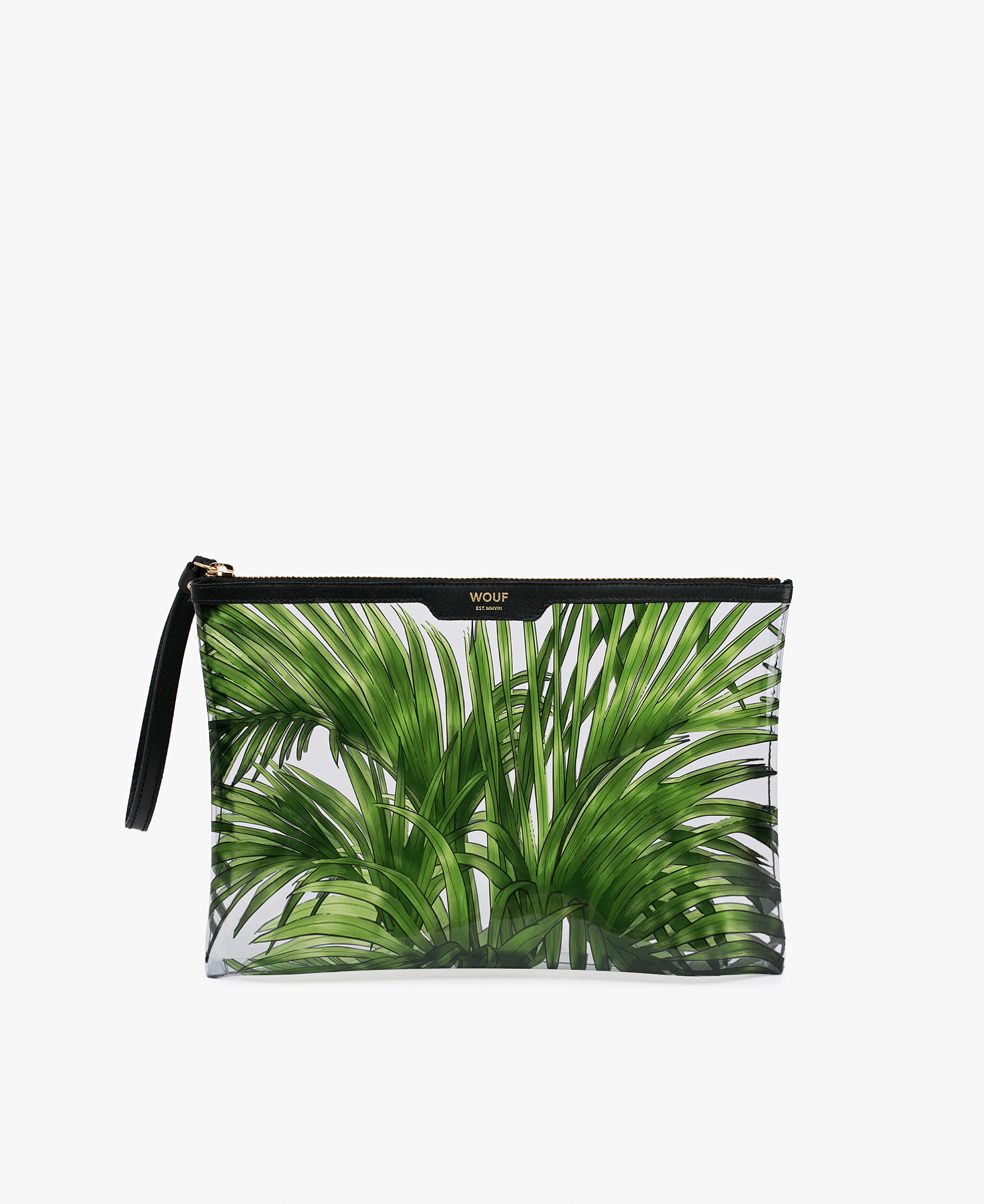 green leaves design clutch