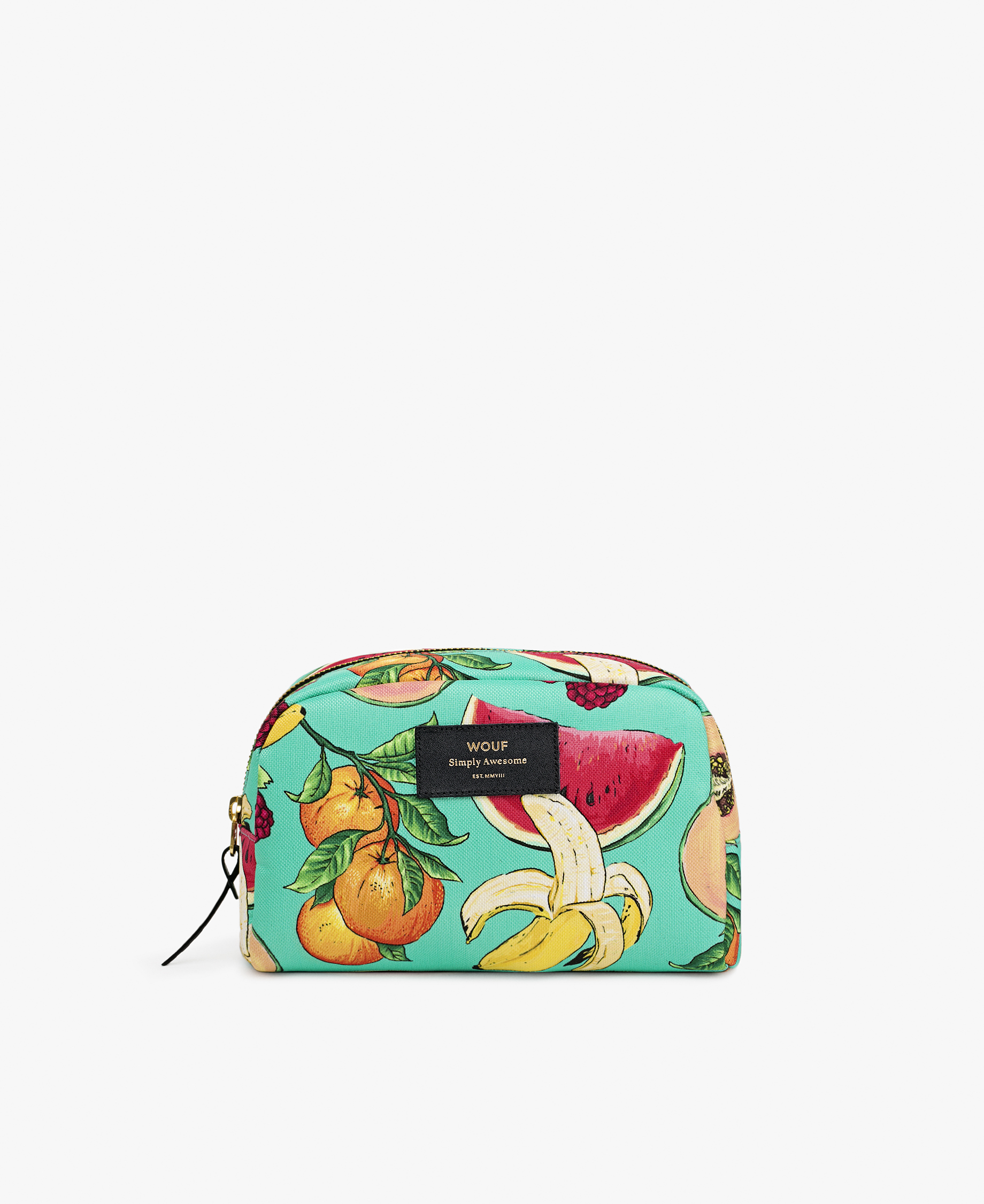 big toiletrybag designed with fruits