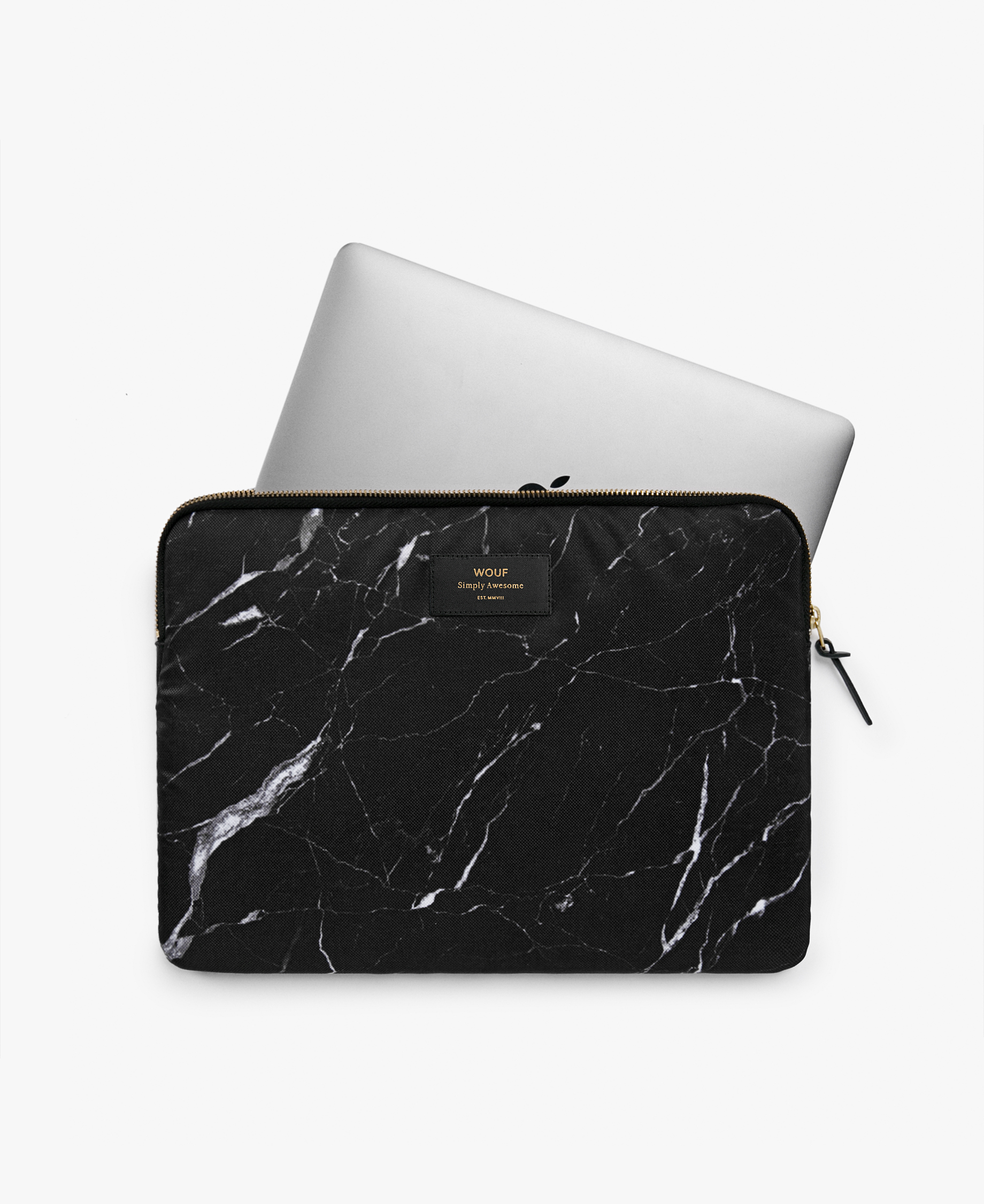 smart back marble laptop case