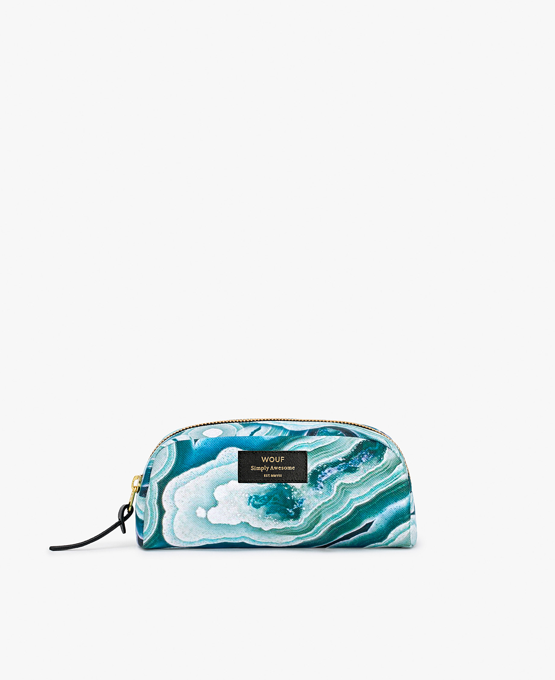 blue toilery bag for woman