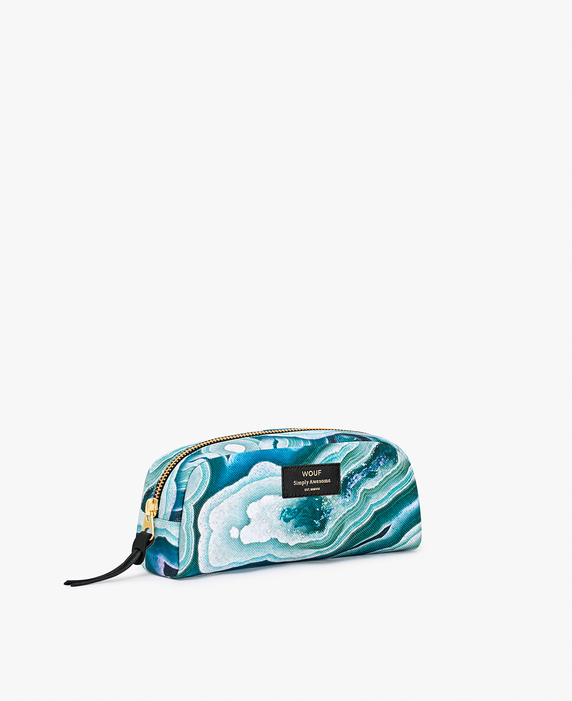 small blue toiletry bag