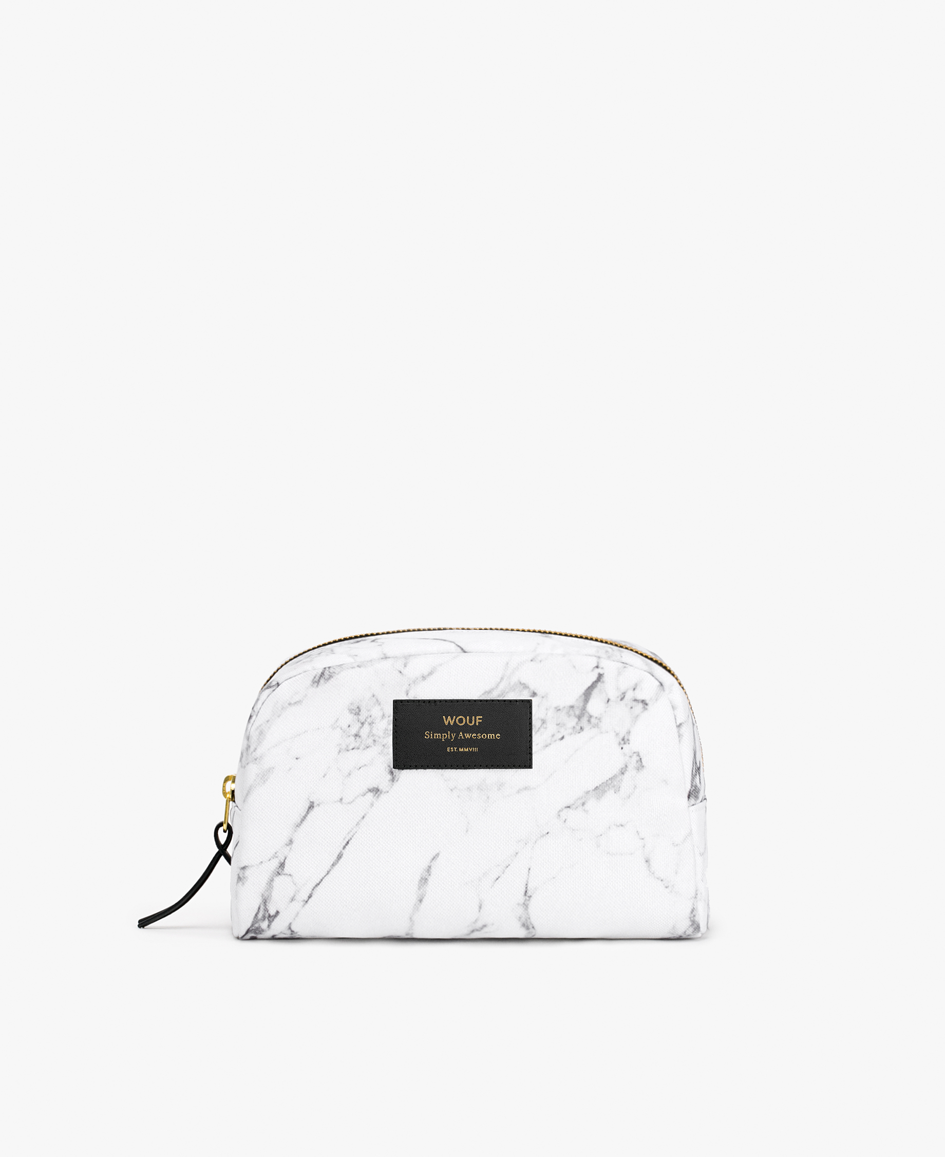 woman's toiletry bag in white