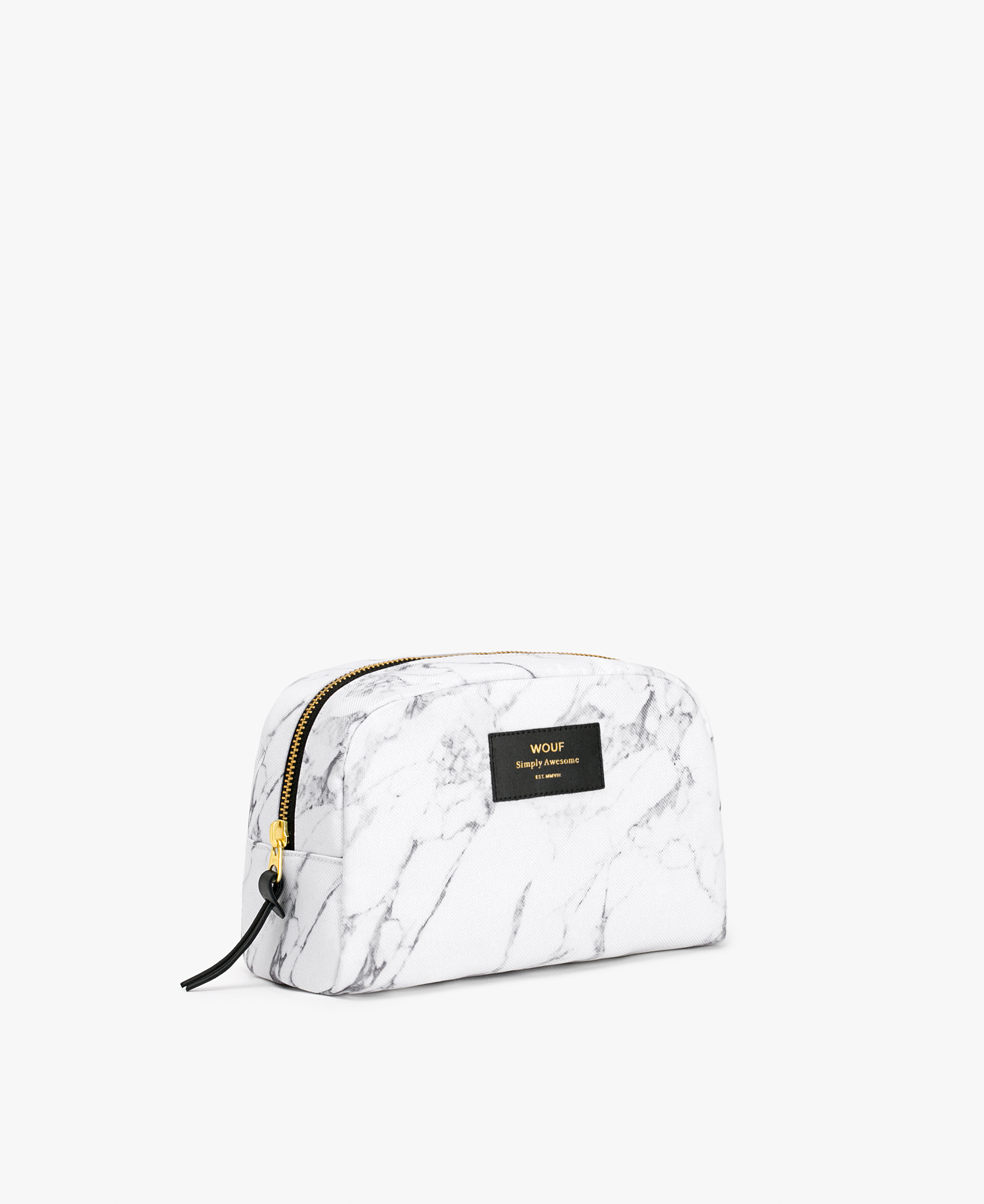 white toiletry bag for woman