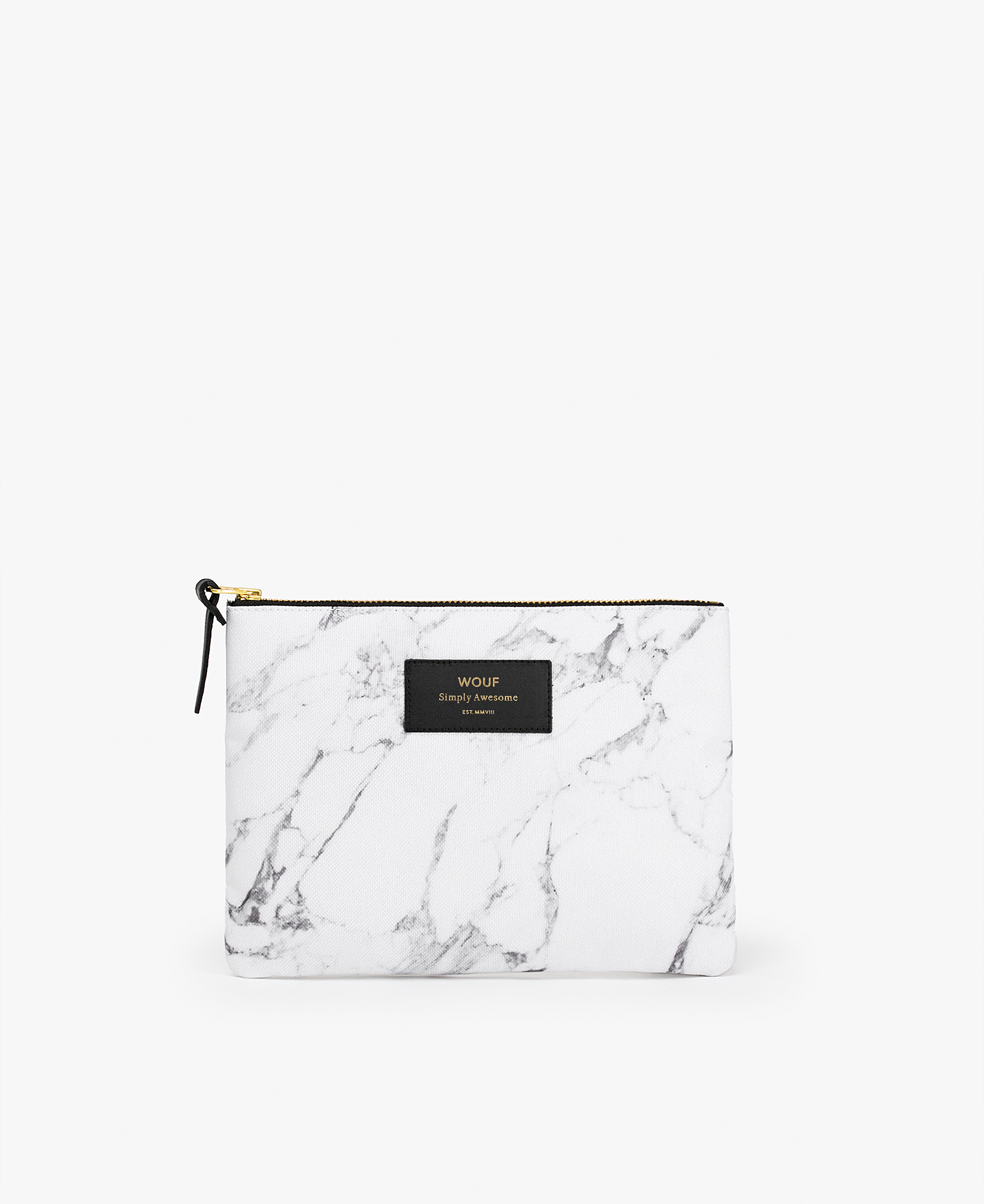 woman's white large pouch bag