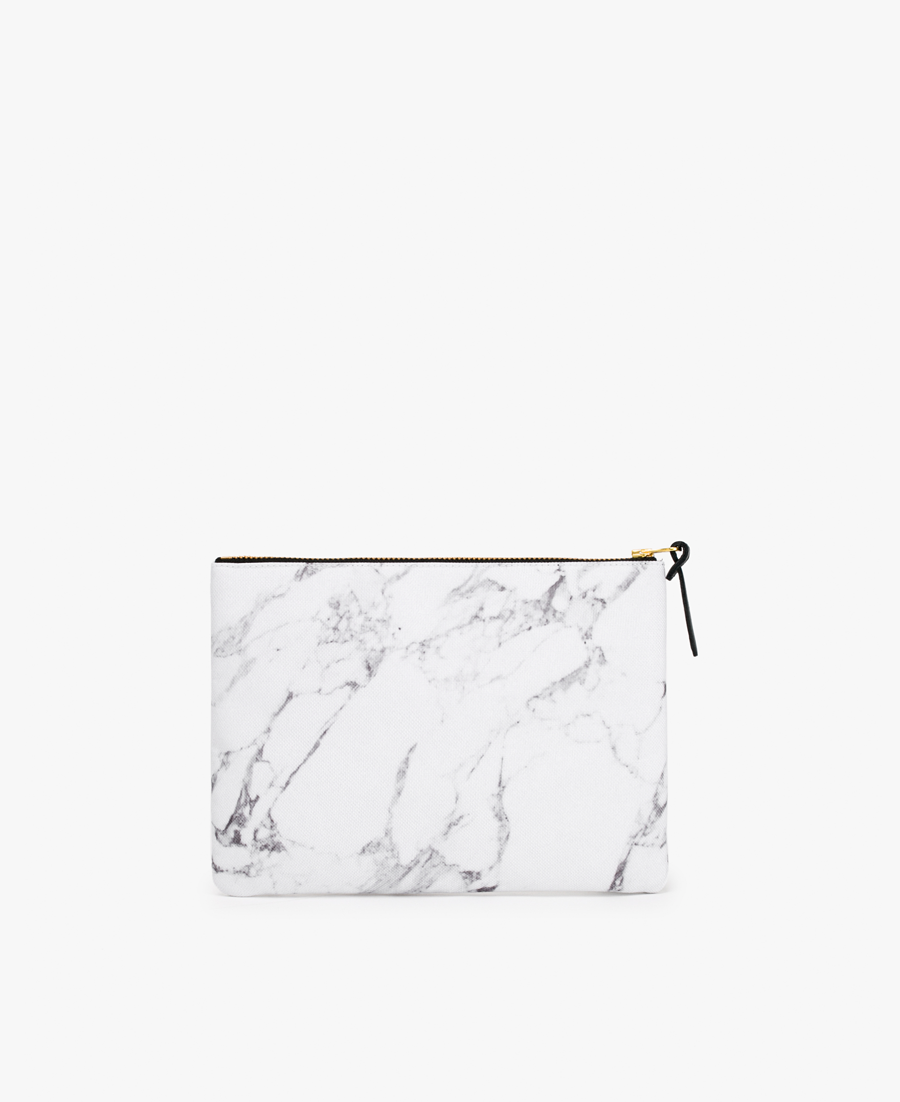 woman's large white pouch bag