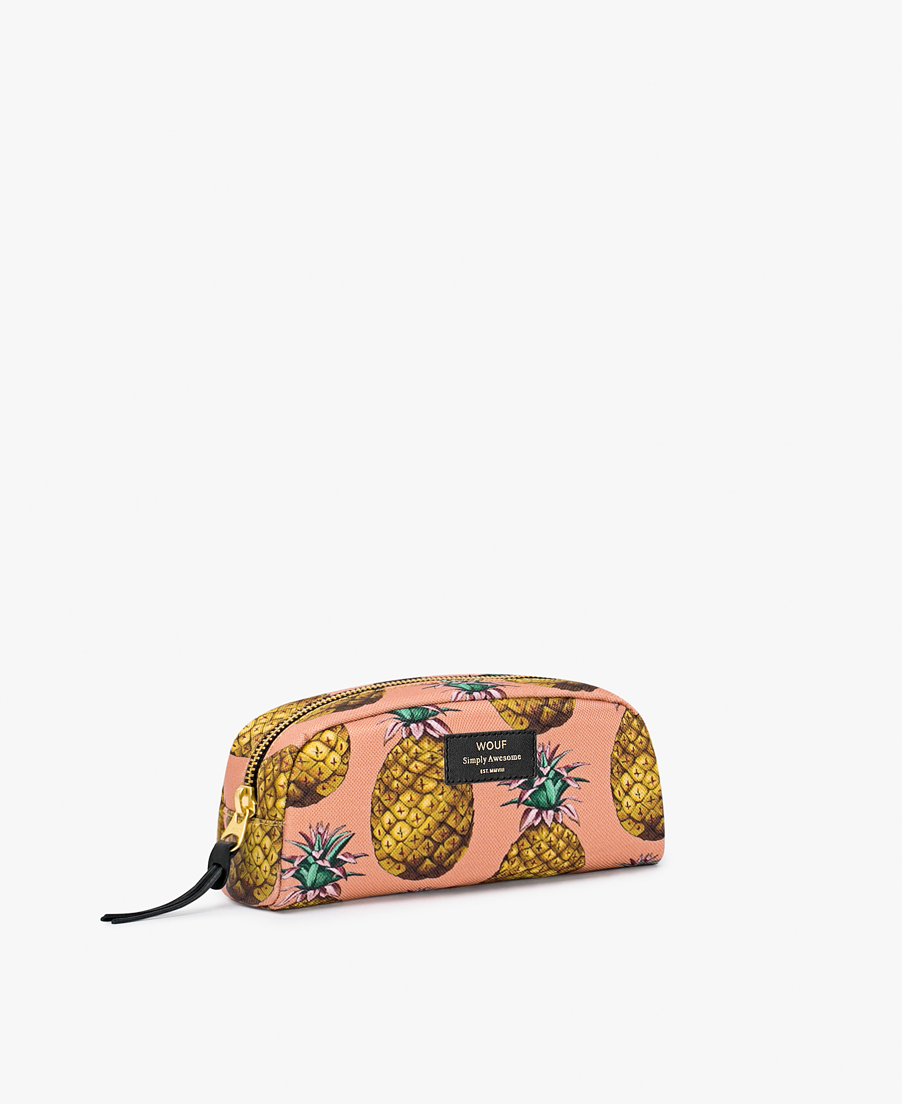 young woman toiletry bag