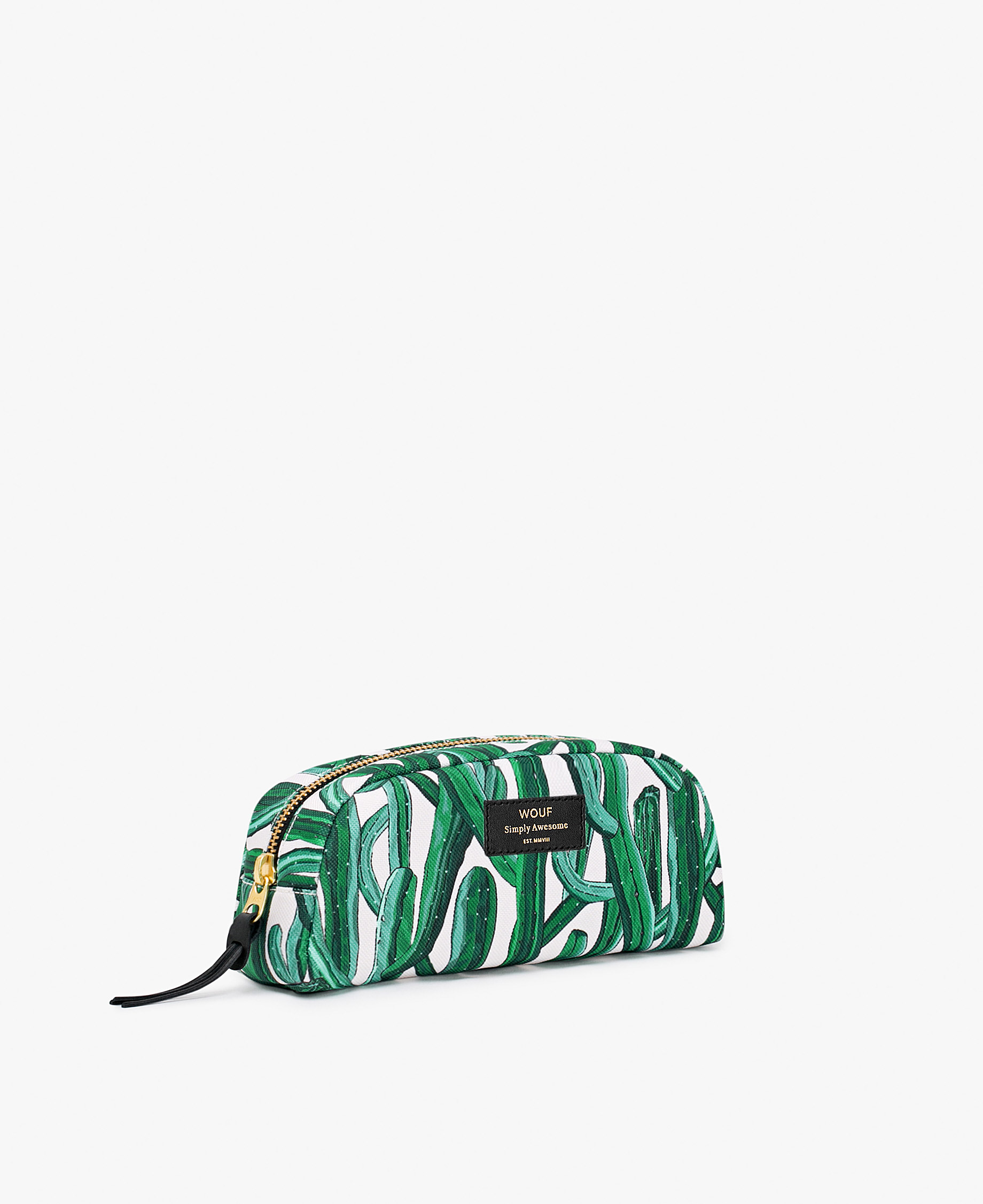 woman's pouch in white and green