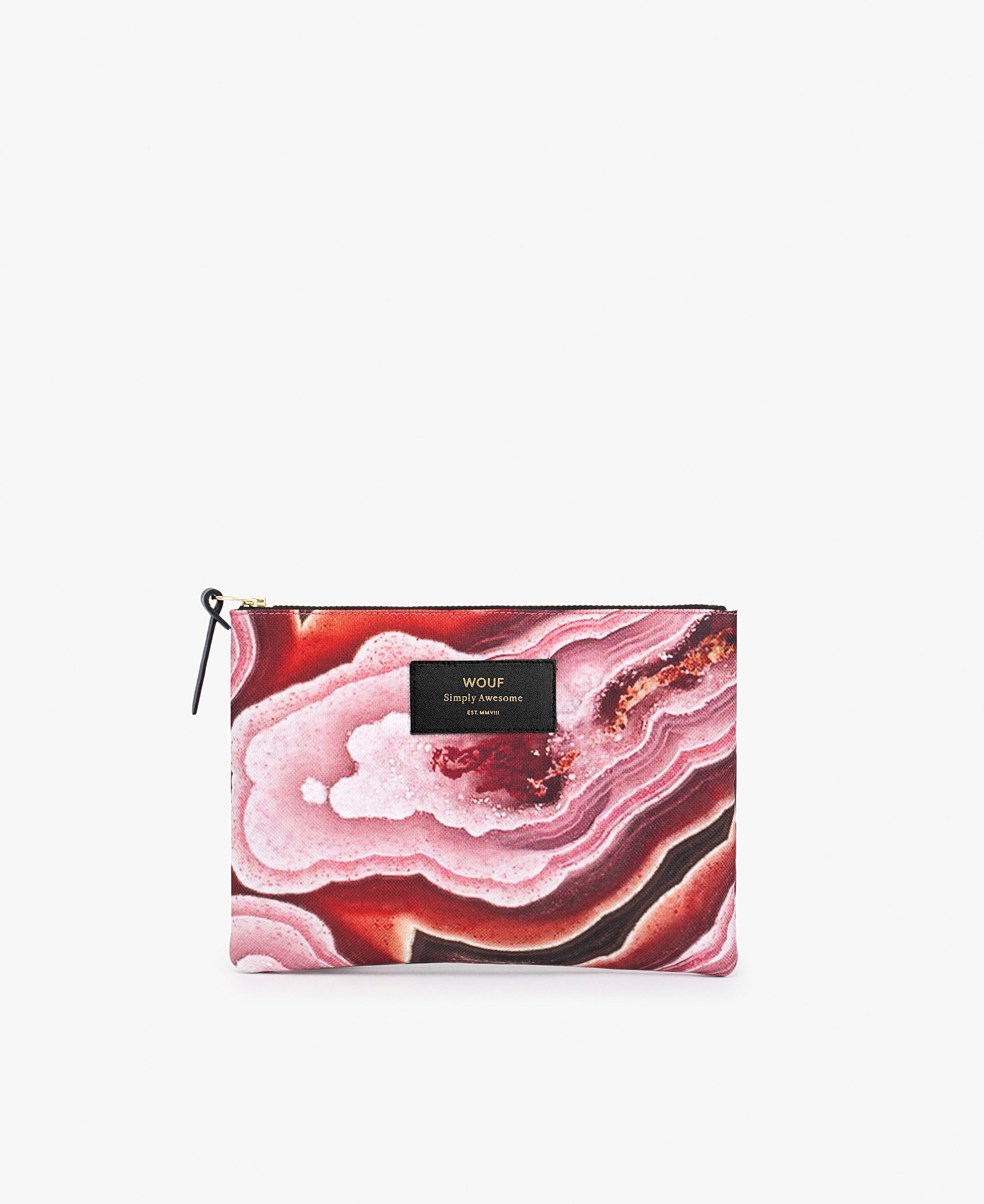big pink pouch bag