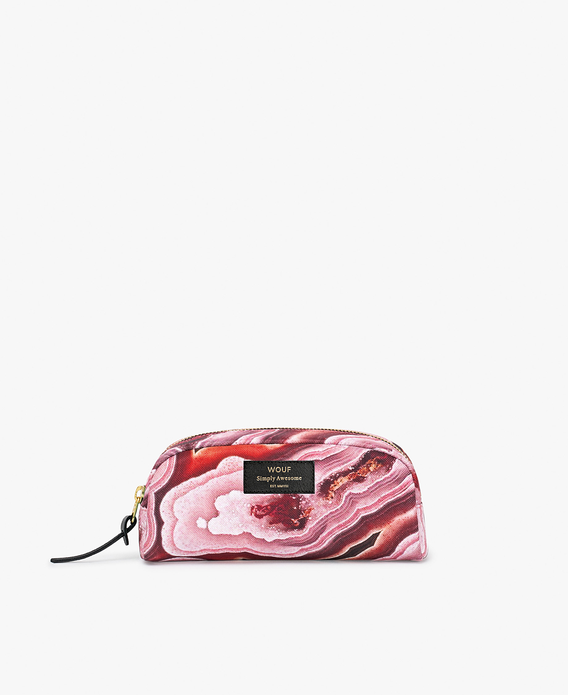 small toiletry bag for woman who likes pink