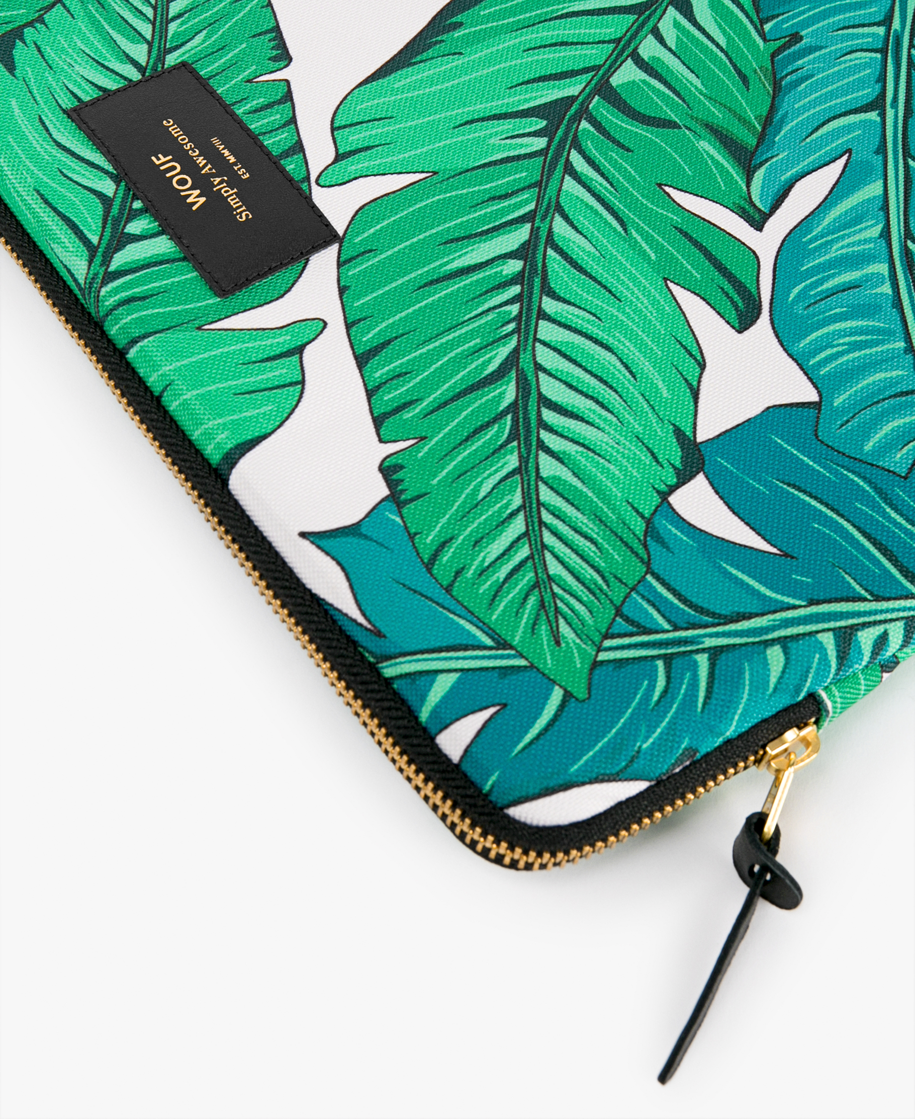 green leaves laptop cover