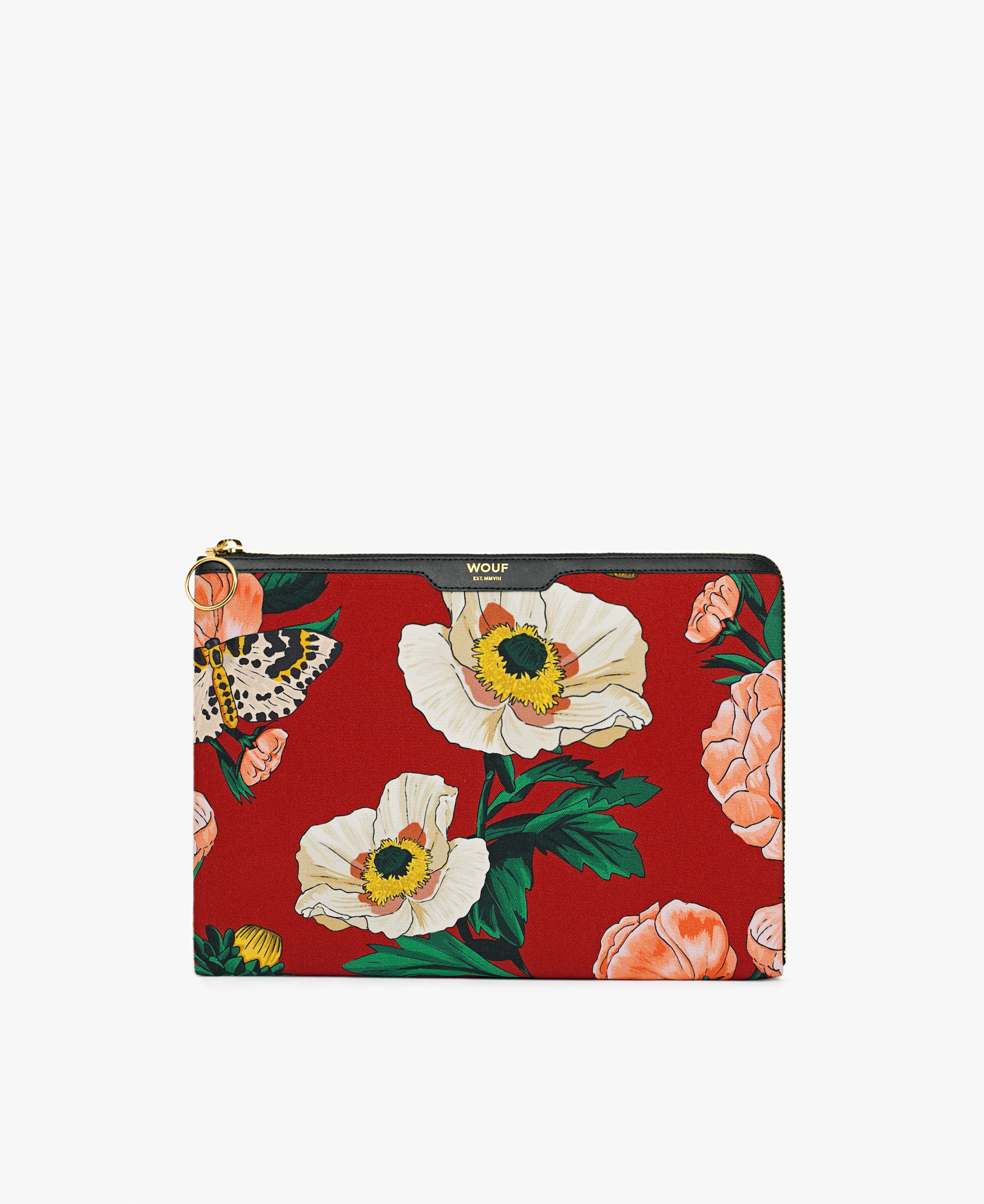 red ipad case with flowers
