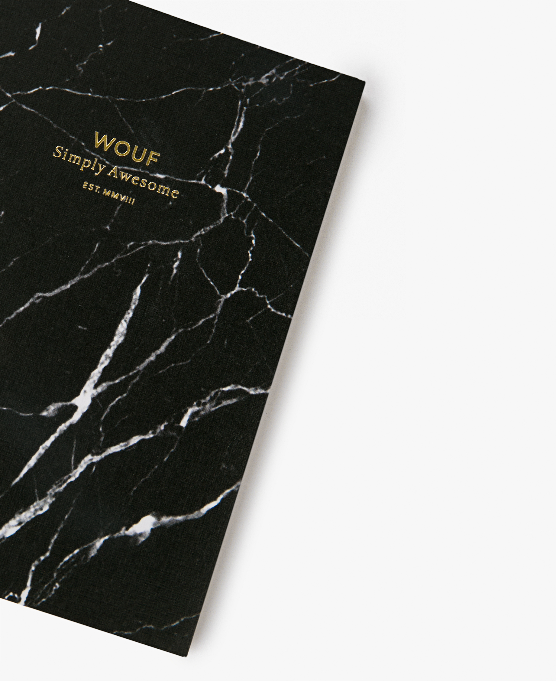 Black Marble A6 Notebook Wouf