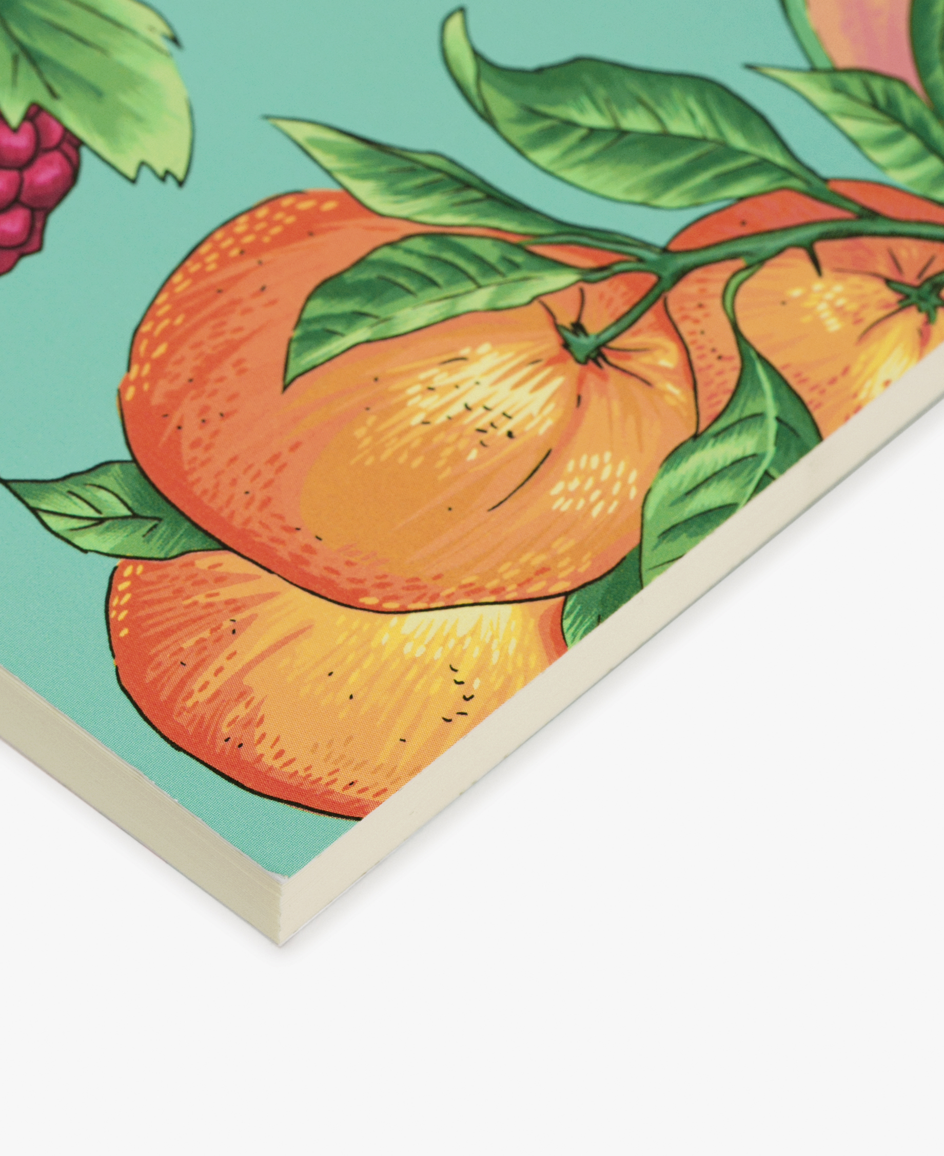 journal notebook with fruits design