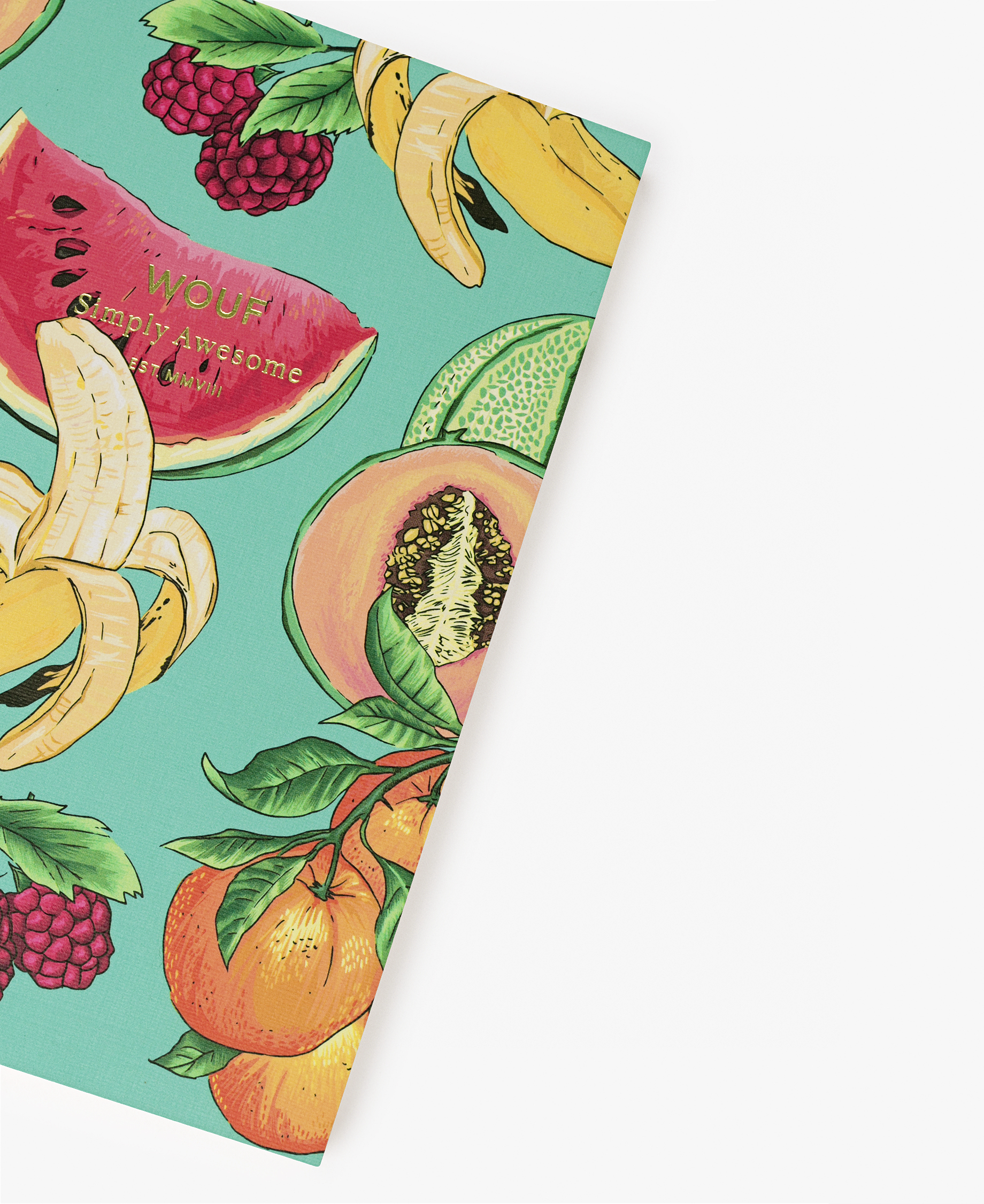 chic journal notebook with fruits
