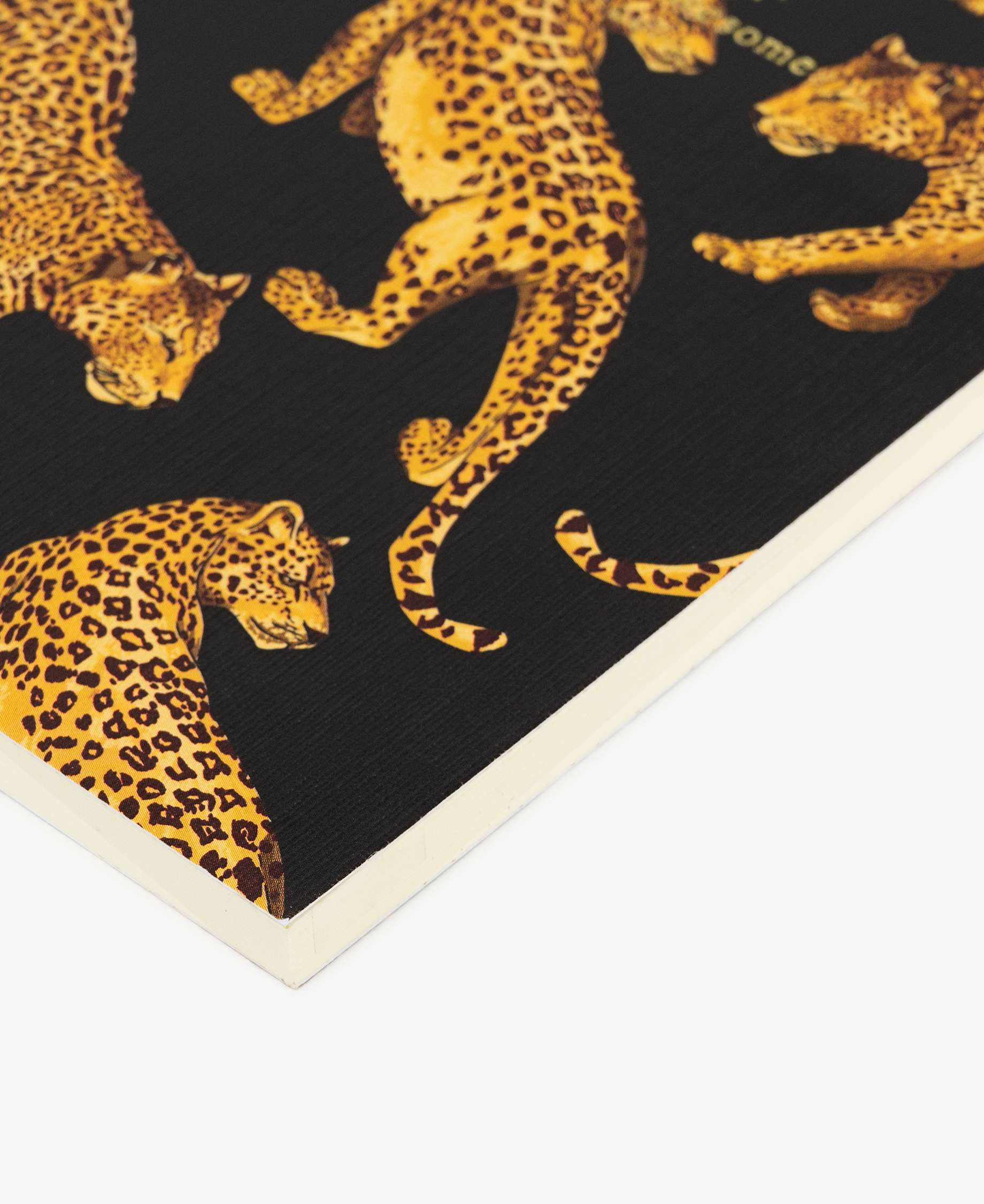 yellow leopard journal notebook