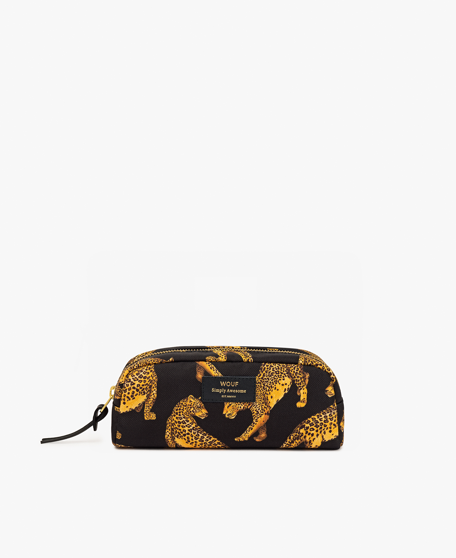 black and yellow toiletry bag