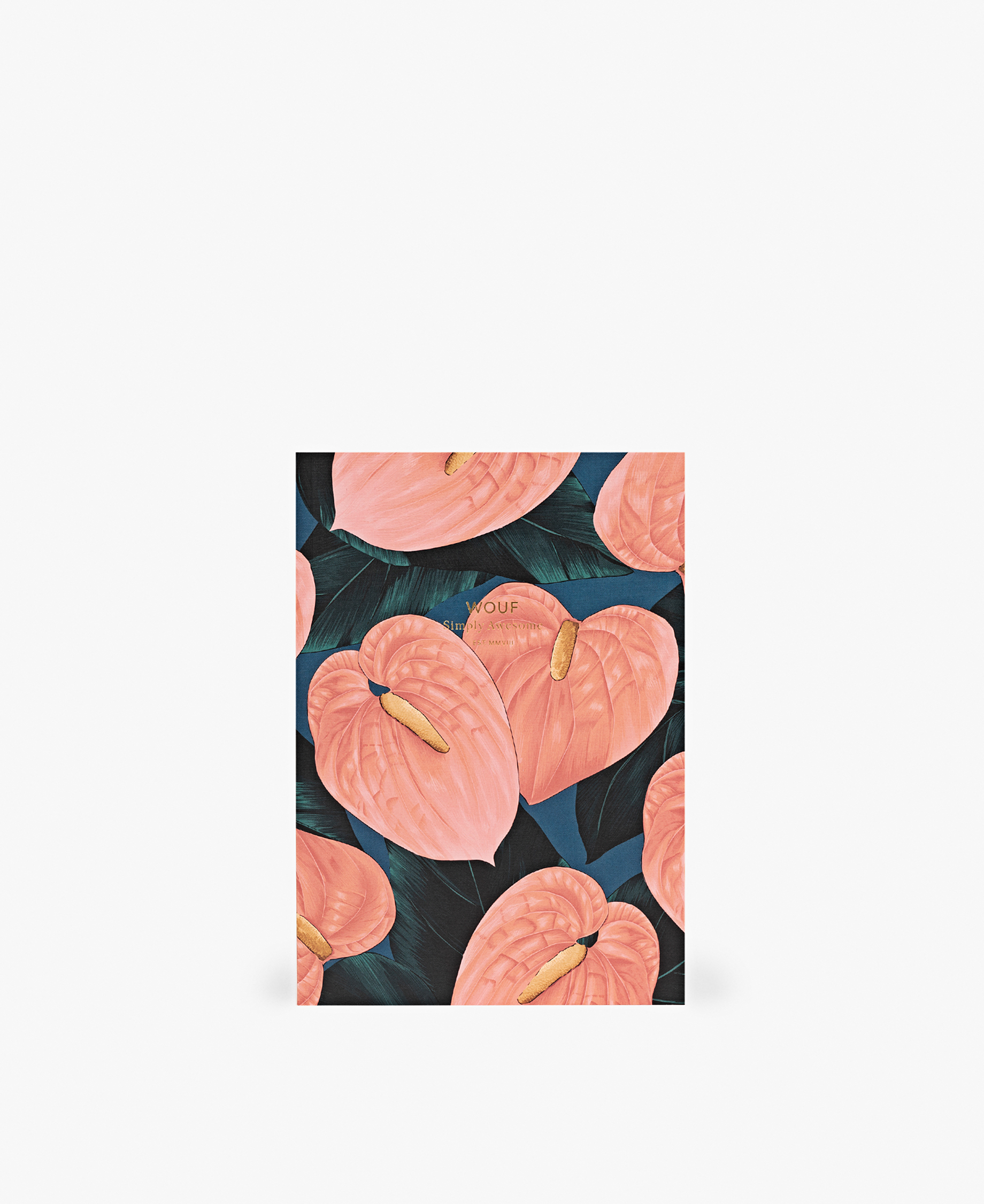 pink-lily-blue-canvas-background-A5-journal-notebook-wouf