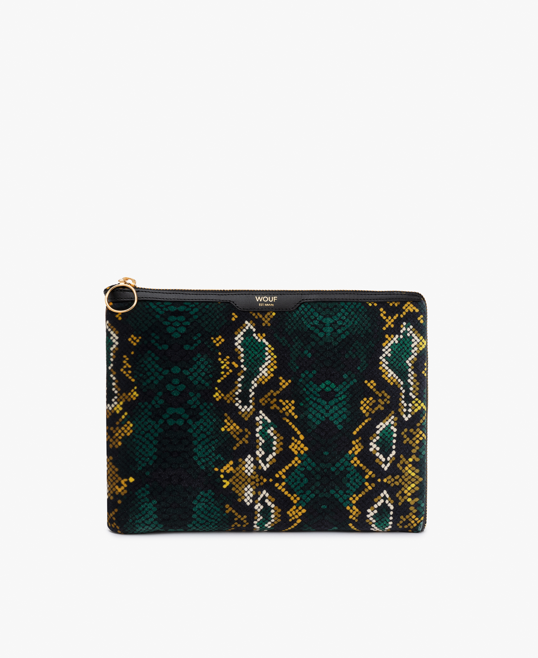 snakeskin velvet woman iPad case