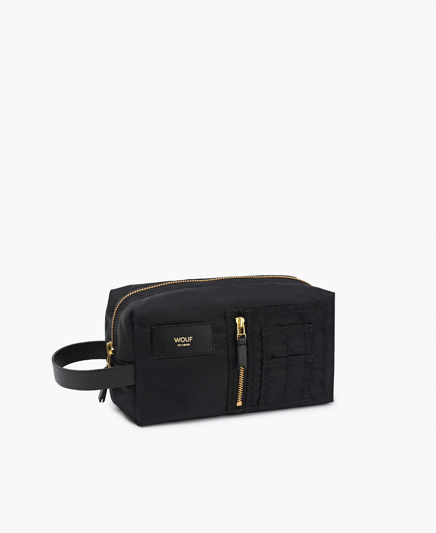 black toiletry bag for man