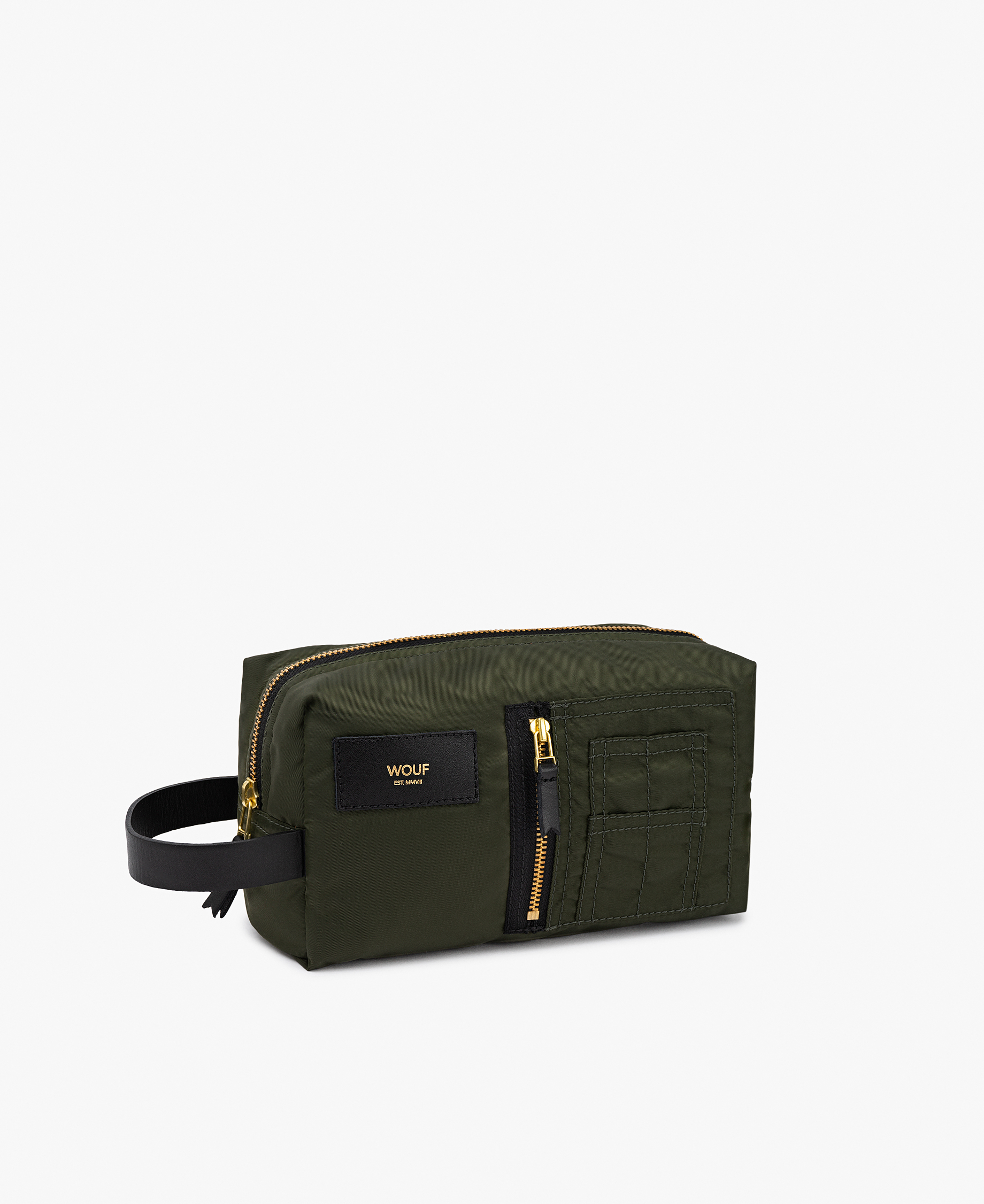 smart army green toiletry bag