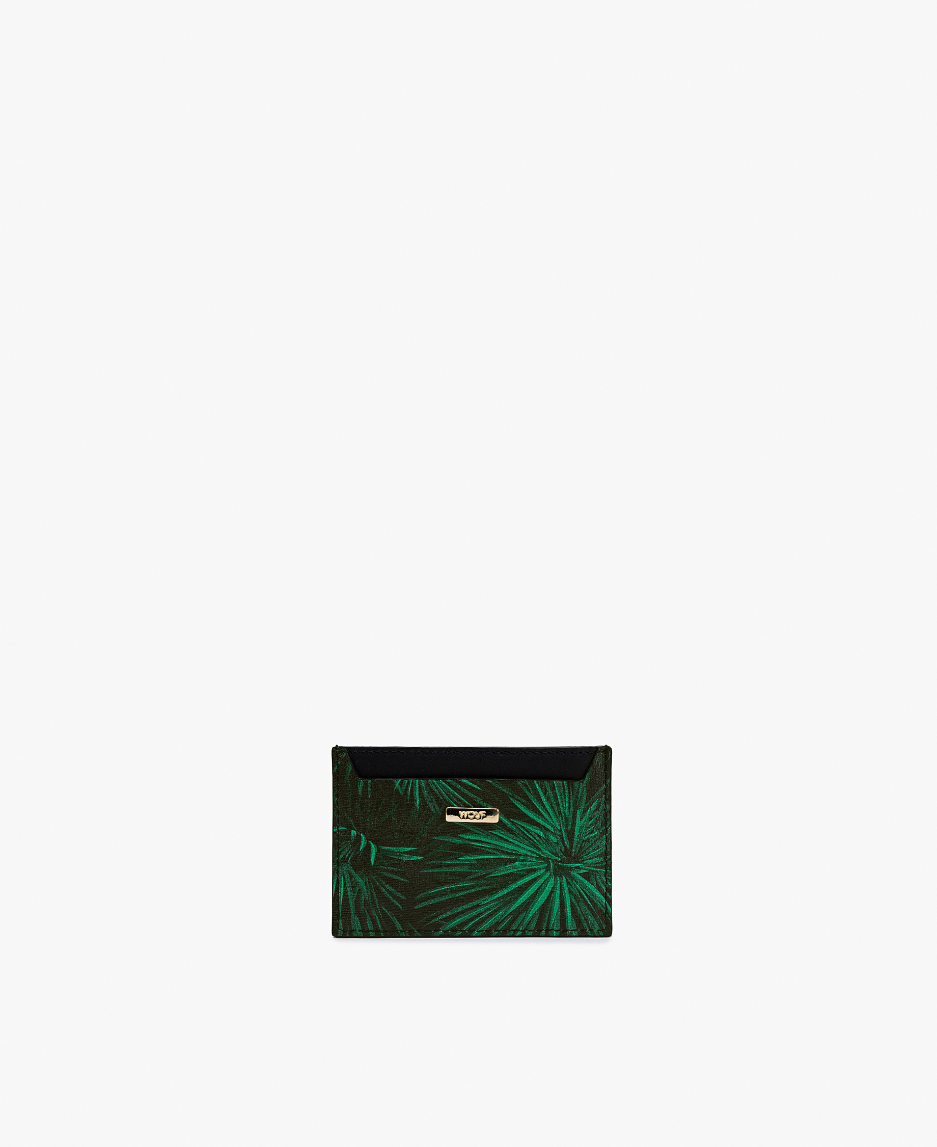 green and black card holder