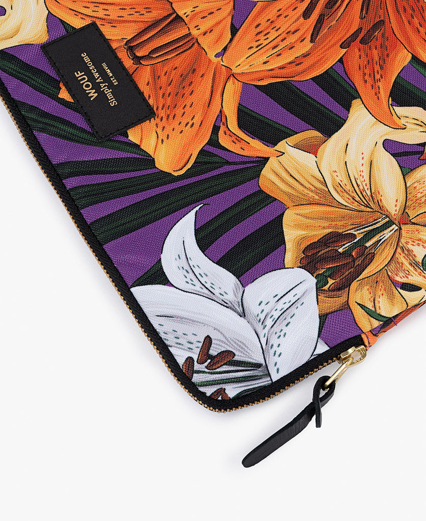 purple laptop case with flowers for woman