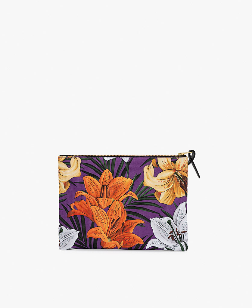 pouch bag for woman with flowers