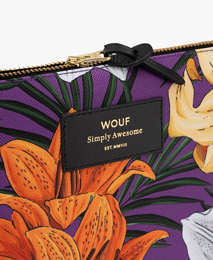 pouch bag for woman in purple
