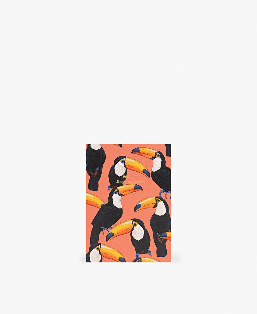 woman's A6 journal notebook in coral