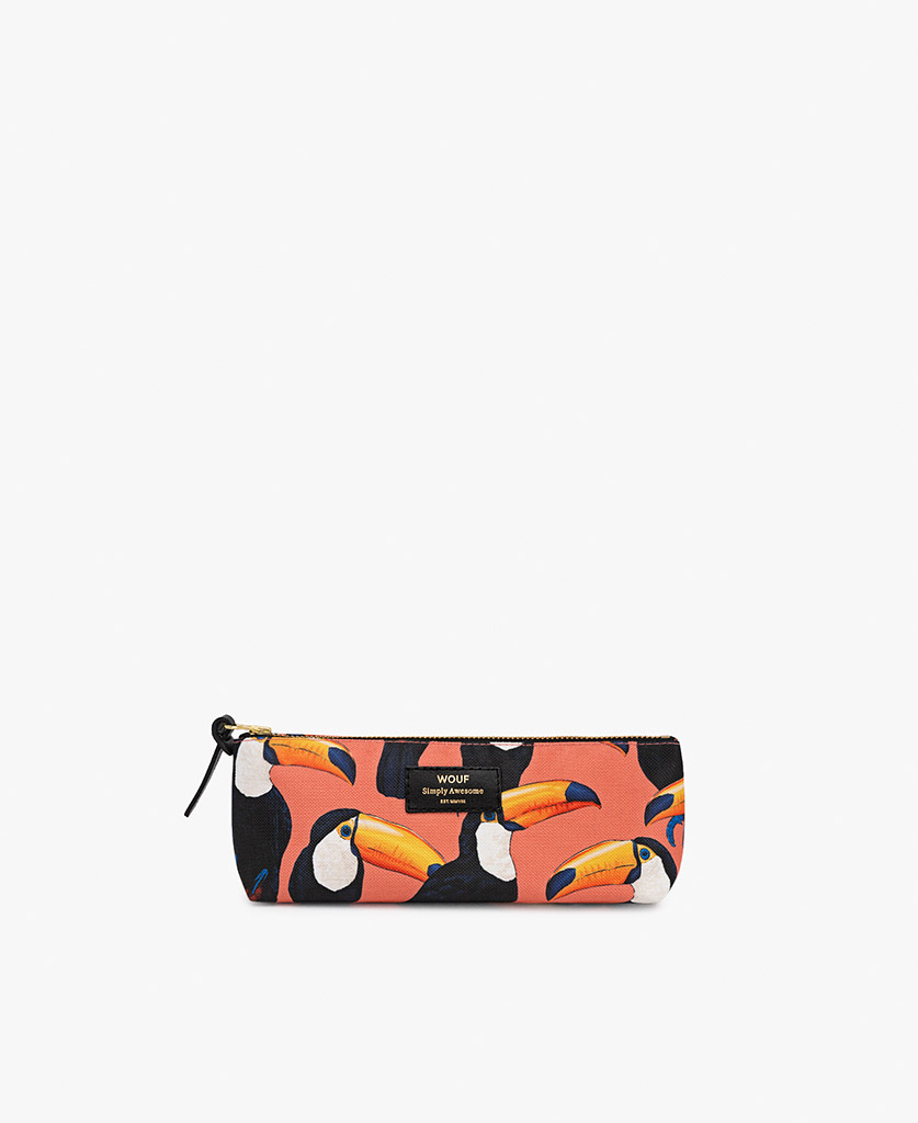 woman's Pencil case in coral