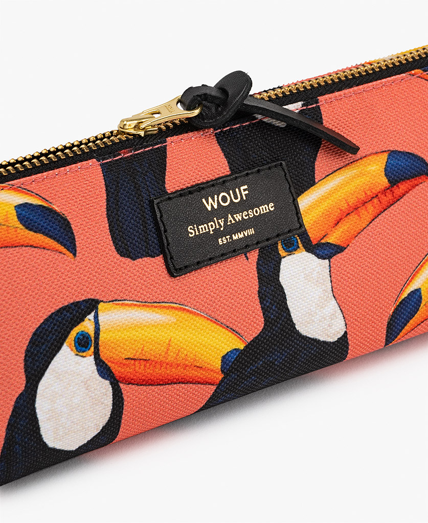 woman's Pencil case with birds