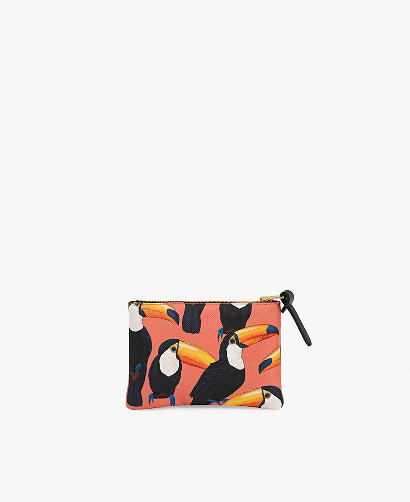 coral pouch bag for woman