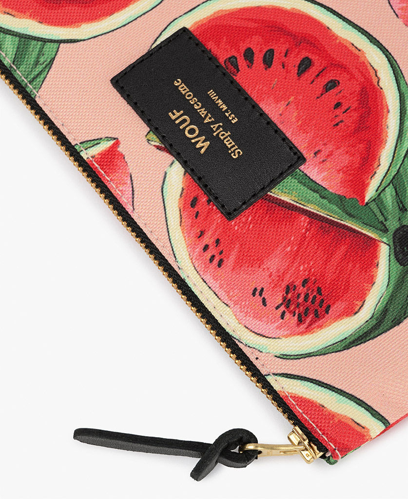 woman pouch bag with watermelon slices