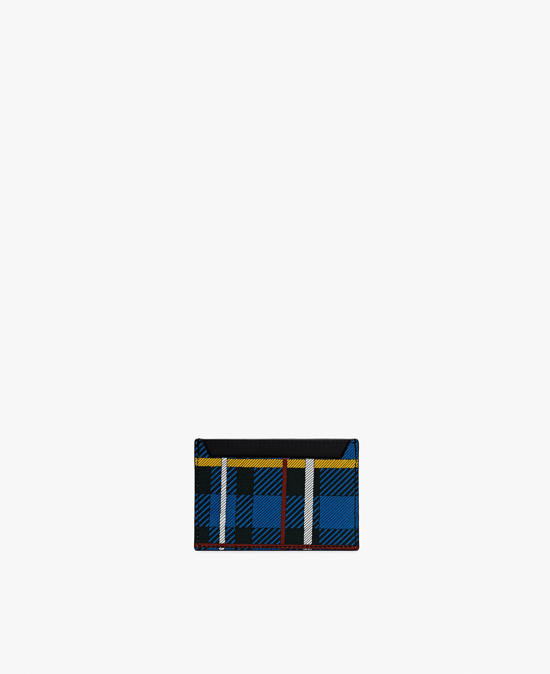 checkered card holder