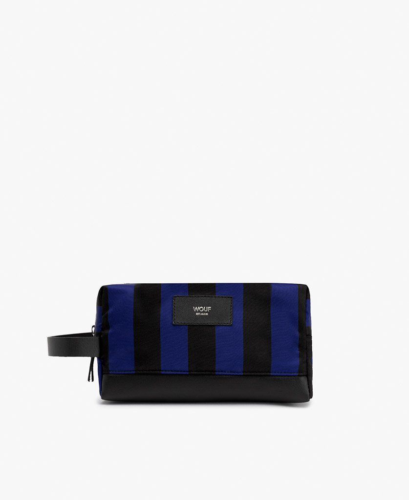 striped toiletry bag for man