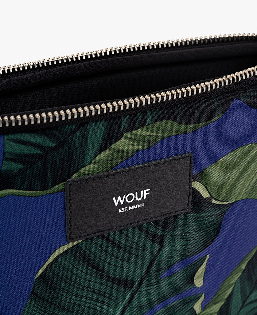 blue ipad case for man with green leaves
