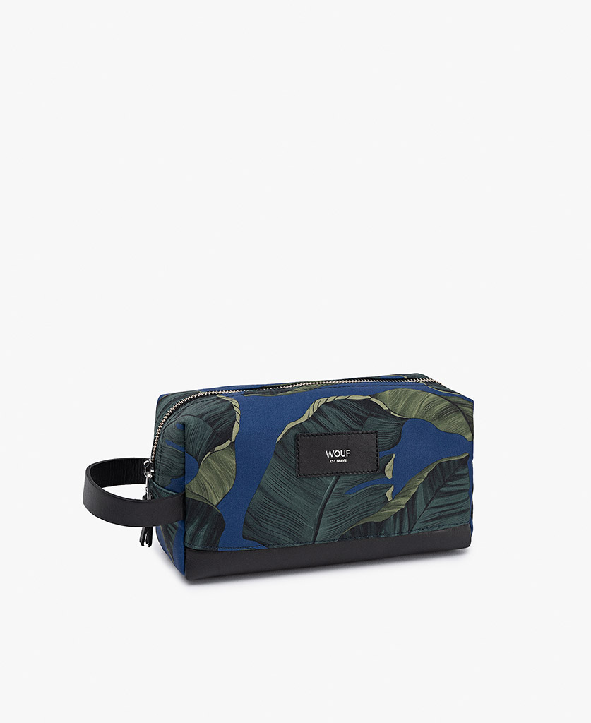 blue toiletry bag for man