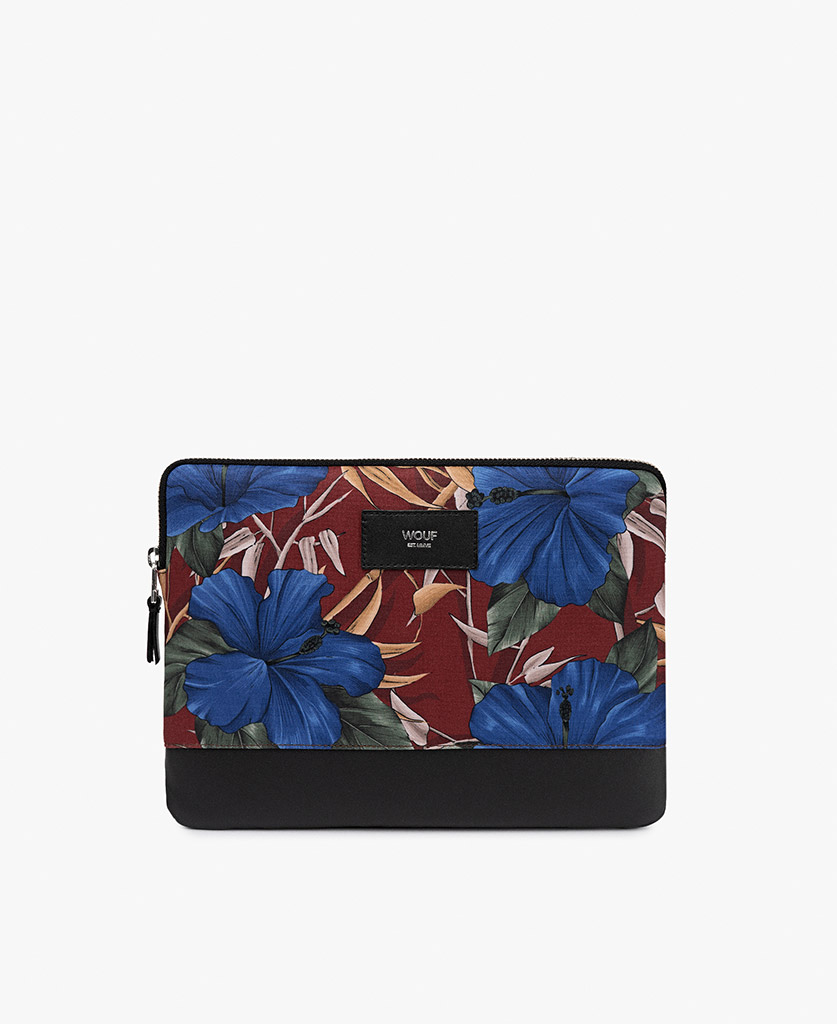 man's ipad case with blue flowers